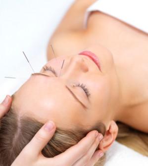 Akupunktur im Gesicht